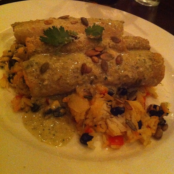 Chicken Enchiladas With Poblano Crema - Not Your Average Joe's Hyannis, Hyannis, MA