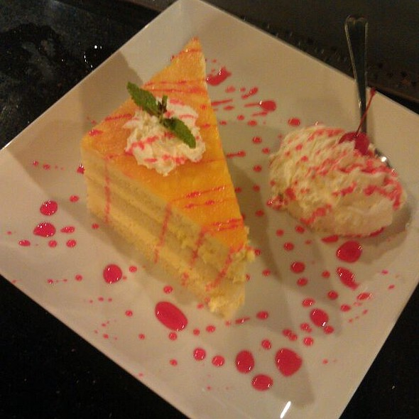 Raspberry Mango Mousse Cake - Fujiyama Japanese Steak House & Bar - Olympia, Olympia, WA