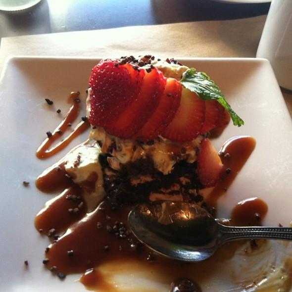 flourless chocolate cake - Terra American Bistro, San Diego, CA