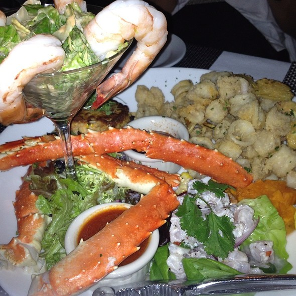 Seafood Appetizer Platter - The Pelican Cafe, Miami Beach, FL