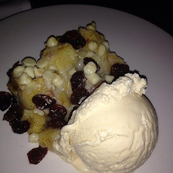 White Chocolate And Cherry Bread Pudding - Sea Change at Chez Melange, Redondo Beach, CA