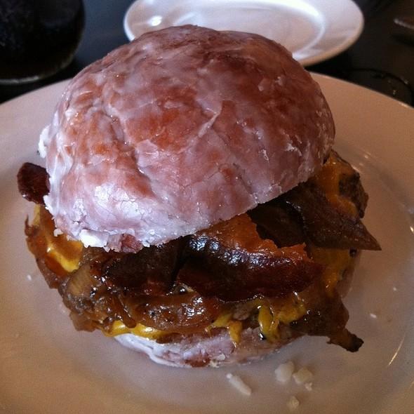 Glazed Donut Bacon Burger!!! - Bulldog Barbecue, North Miami, FL