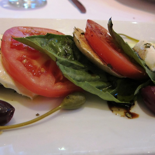 Tomato, Cheese and Basil Appetizer - Vaso Azzurro, Mountain View, CA