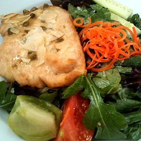 Garlic Herb Chicken, Under A Brick - Spring House Restaurant, Kitchen & Bar, Winston-Salem, NC