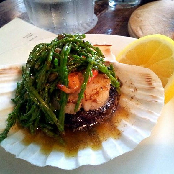 Samphire, Scallops & Black Pudding  - The Drapers Arms, London
