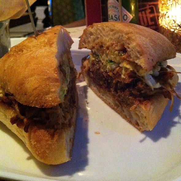 Pulled Pork Sandwich - Rogue Kitchen & Wet Bar - Broadway, Vancouver, BC
