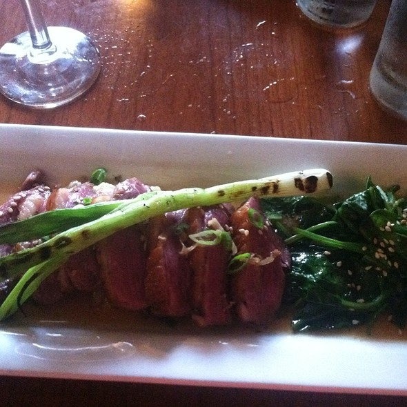 Duck Breast Served With Wild Mushroom Rissotto    - David's Restaurant, Portland, ME