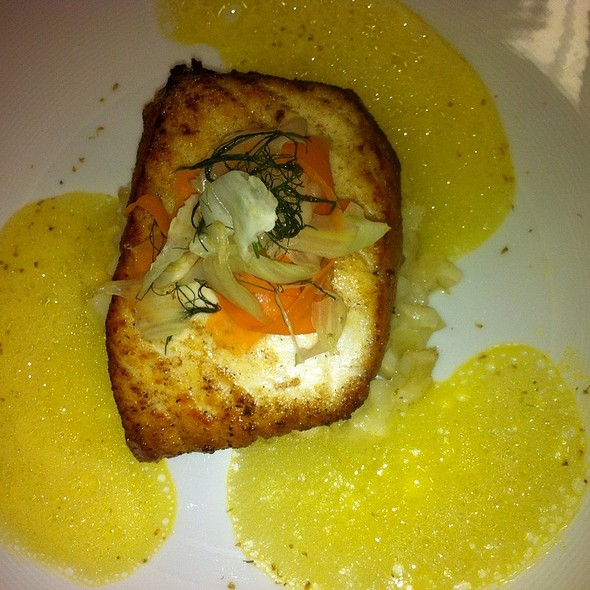 Pan Seared Halibut Fennel Variation - The Conservatory At Vanderbilt Grace, Newport, RI