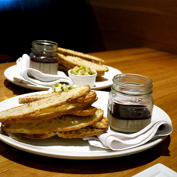 Jars of Chicken Liver Mousse - Westside Tavern, Los Angeles, CA