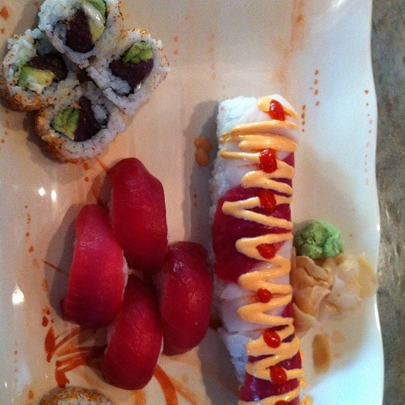 Tuna Sushi And Sooner Roll - DEKORA!, Oklahoma City, OK