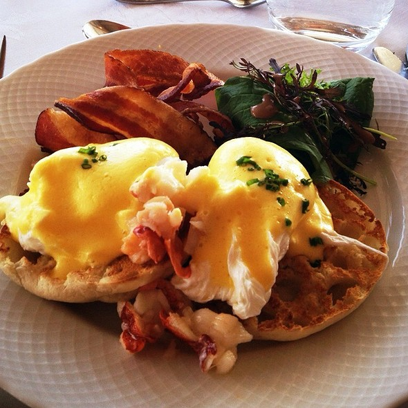 Maine Lobster Eggs Benedict - Natalie's at Camden Harbour Inn, Camden, ME