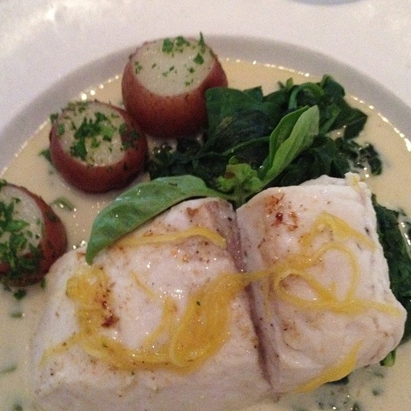 Halibut In Lemon Sauce - Downey's, Santa Barbara, CA