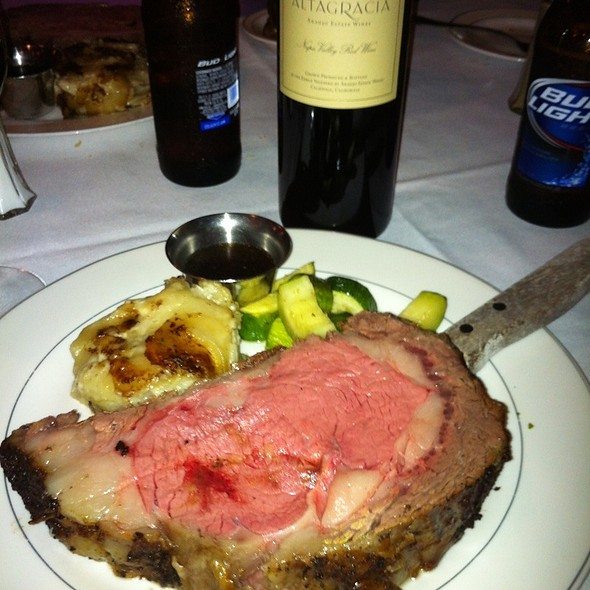 22 Oz Prime Rib Special - Crane's Tavern Steakhouse & Seafood, Hilton Head Island, SC