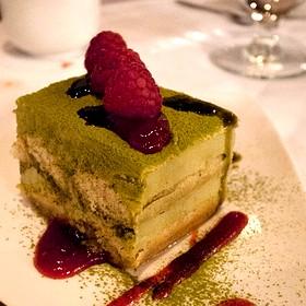 Green Tea Tiramisu - Zest Restaurant, Vancouver, BC