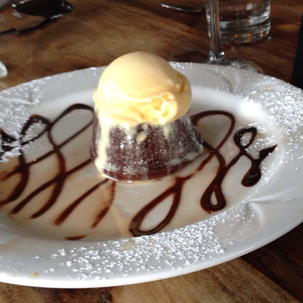 Chocolate Mousse with Vanilla Ice Cream - Graziano's Brickell, Miami, FL