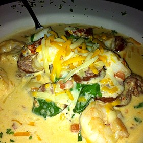 Shrimp and Grits - The Old Fourth Street Filling Station, Winston-Salem, NC