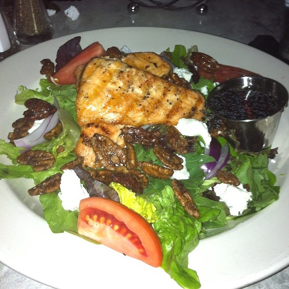 Grilled Salmon Salad - The Old Fourth Street Filling Station, Winston-Salem, NC