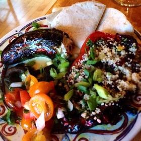 Stuffed Pepper Trio - Cosmos Cucina, Kalamazoo, MI