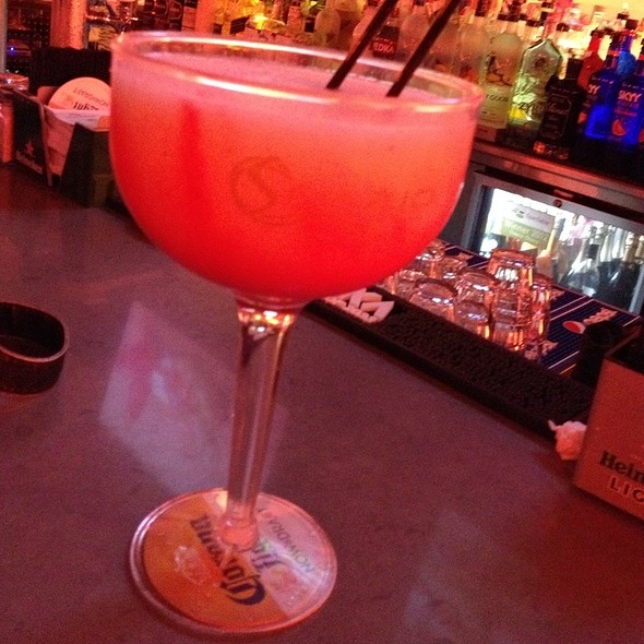 Giant Strawberry Margarita - SPAZIO - Fort Lauderdale, Fort Lauderdale, FL