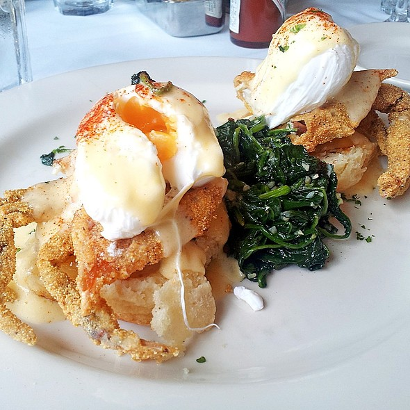 Soft Shell Crab & Green Tomato Benedict - Tony Mandola's, Houston, TX