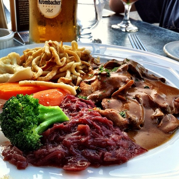Jägerschnitzel - The Black Forest Restaurant, Harrison Hot Springs, BC