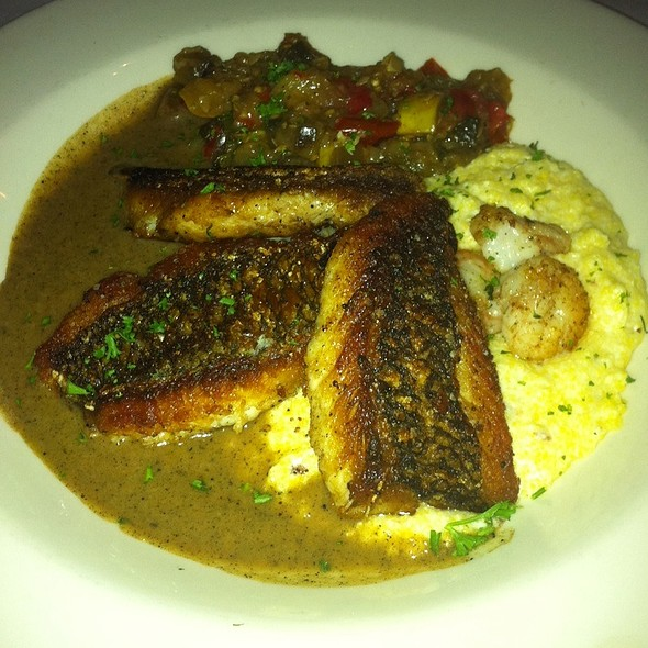 Bronzed Gulf Drum With Shrimp And Grits - Mat & Naddie's, New Orleans, LA