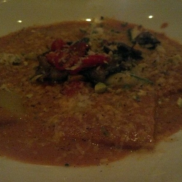 Wild Mushroom Ravioli With Basil In Cream Sauce - Punch Restaurant, New York, NY