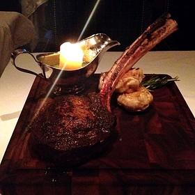 Tomahawk Steak - Bull & Bear Steakhouse, Orlando, FL