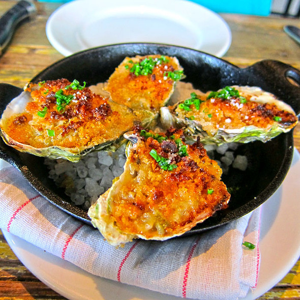 Cheese Baked Oysters - Marlowe, San Francisco, CA