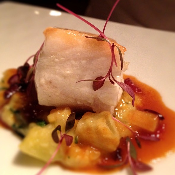 Halibut W/Lobster Sauce, Summer Squash And Black Olives.  - Gramercy Tavern, New York, NY