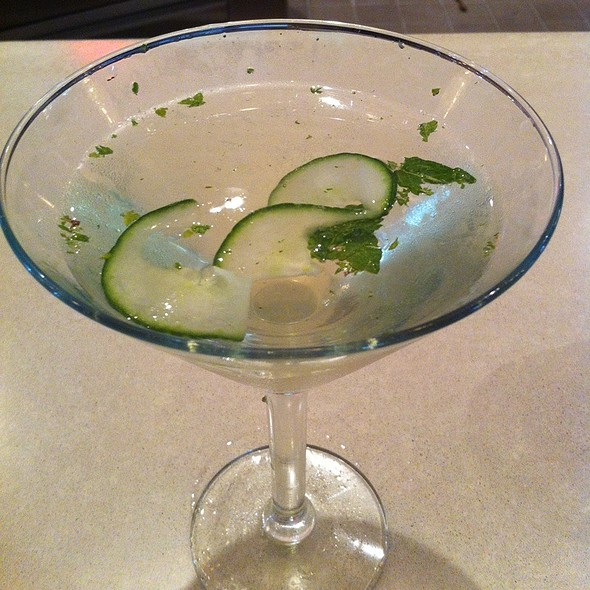 Cucumber Mint Martini - One2One Restaurant & Bar, Frisco, TX