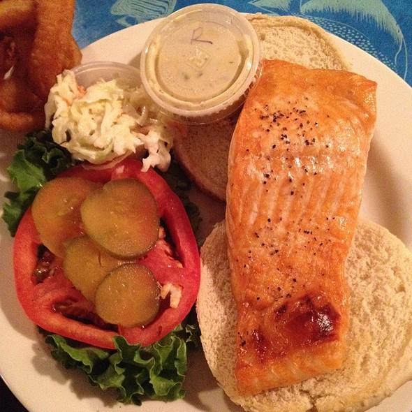 Salmon Sandwich - Kentmorr Restaurant, Stevensville, MD