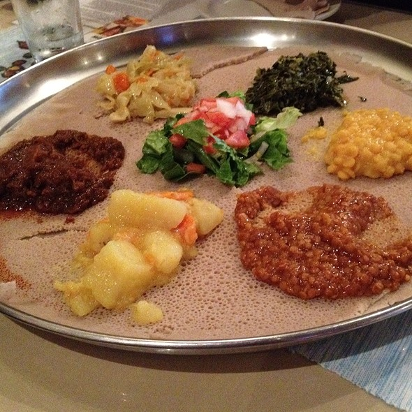 Vegetarian Sampler Platter - Ethiopian Diamond, Chicago, IL