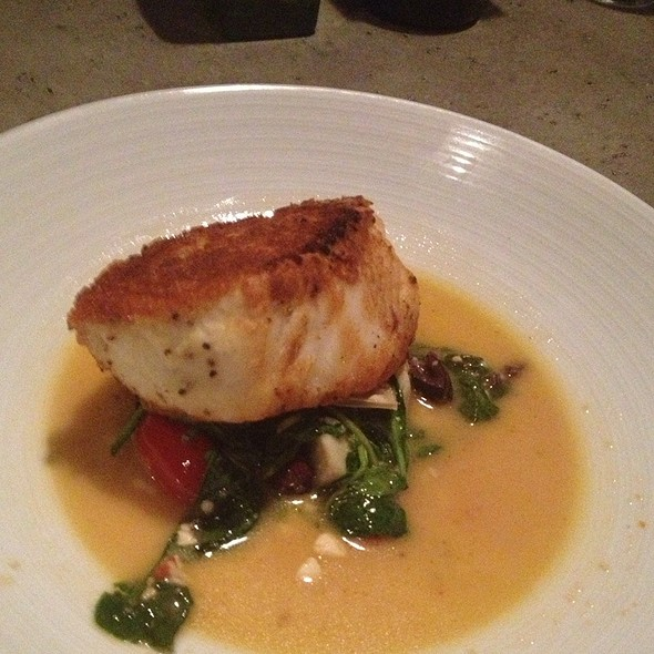 Crusted Seabass Filet W Local Tomatoes And White Wine Butter Sauce   - Grazie Italiano, Bloomington, IN