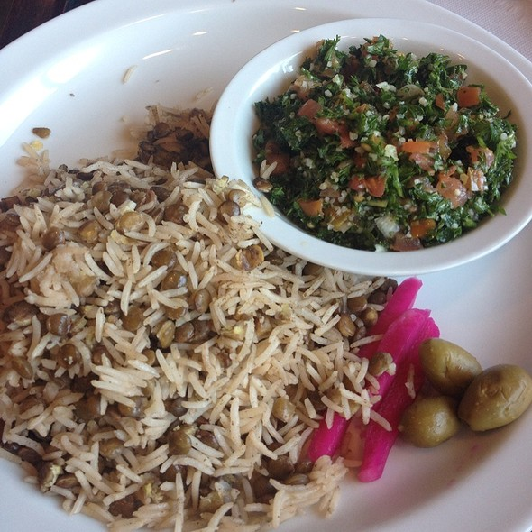 Rice and Lentil, Tabouli, Fatoush - Ali Baba, South San Francisco, CA