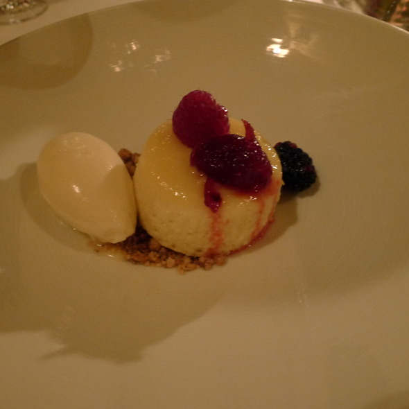 Meyer Lemon Pudding Cake - The Restaurant at JUSTIN Vineyards & Winery, Paso Robles, CA