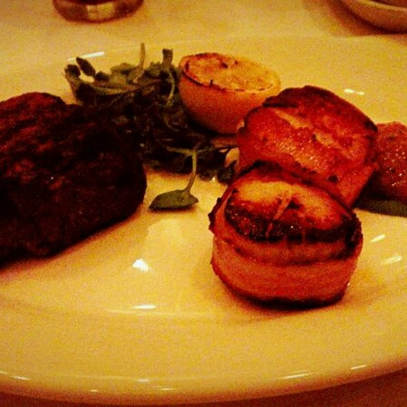 Filet Mignon And Bacon Wrapped Scallops - Morton's The Steakhouse - Midtown Manhattan, New York, NY