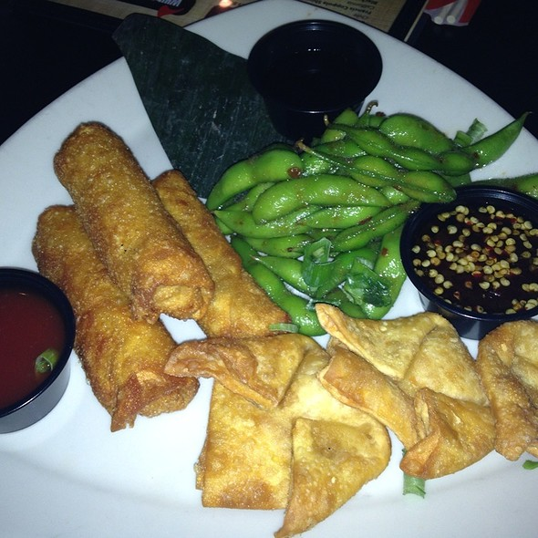 Edamame, Spring Rolls And Crab Rangoons - Big Chow Grill, Atlanta, GA