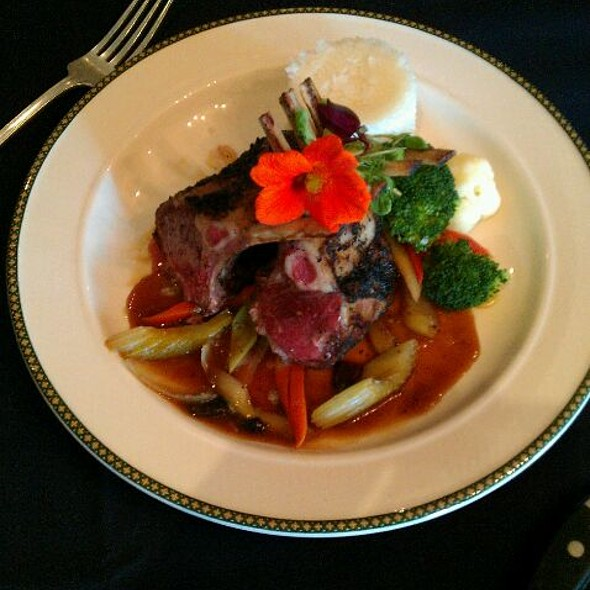 Rack of Lamb - Woodlands Restaurant at Eagle Ridge Resort & Spa, Galena, IL
