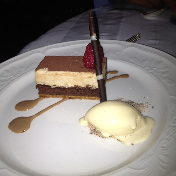 Chocolate Hazelnut Crunch Torte - The French Room, Dallas, TX