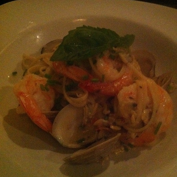 Sauteed Shrimp and Clams Linguine Pasta - Laporta's Restaurant, Alexandria, VA