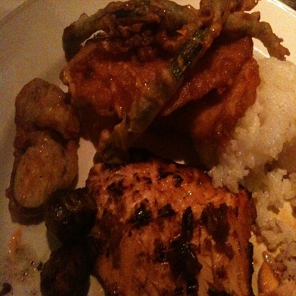 Citrus Salmon With Lemon Sticky Rice - Chart House Restaurant - Marina del Rey, Marina Del Rey, CA
