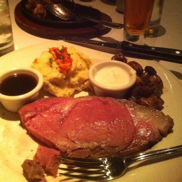 Prime Rib With Au Jus And Yukon Mashed Potatoes - Chart House Restaurant - Marina del Rey, Marina Del Rey, CA
