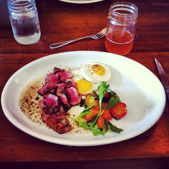 Veal Sirloin And Eggs - Salt's Cure Los Angeles, West Hollywood, CA