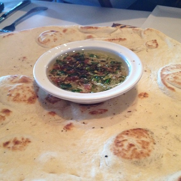 Pita Bread And Olive Oil Dip - Santorini Restaurant, Danville, CA