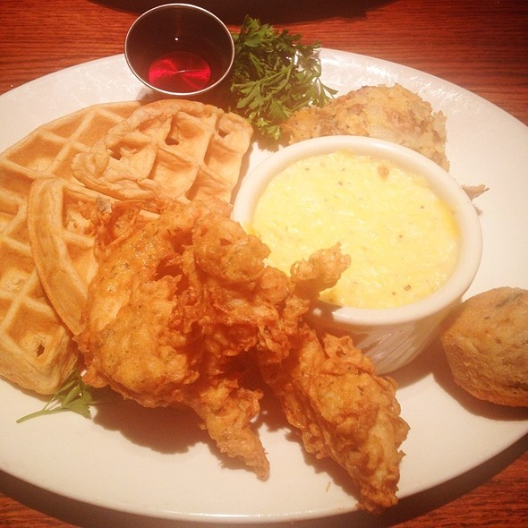Chicken and Waffles - Harper's Restaurant - SouthPark, Charlotte, NC