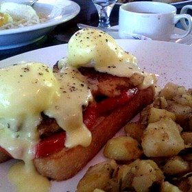 Crab Cake Benedict - Azur, Key West, FL