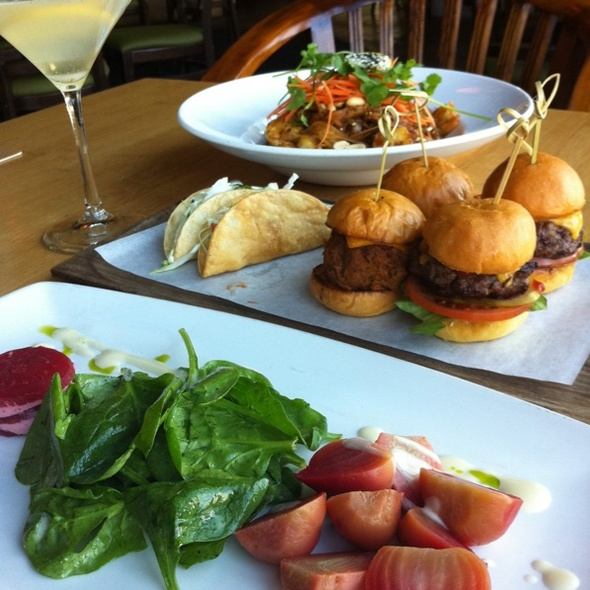 Beet Salad, Slider Trio & Pad Thai w/ Lemin Drop Martini - Tantalum, Long Beach, CA