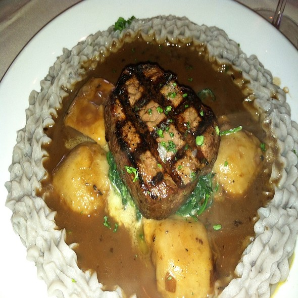 Beef Tenderloin With Osso Bucco Raviollli - Glass Wall, Houston, TX