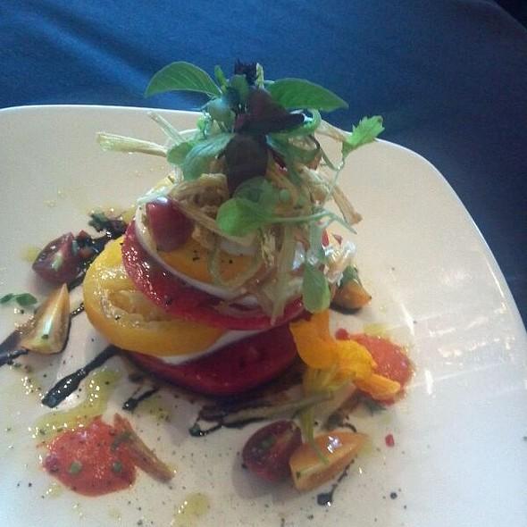 Heirloom Tomato Nepoleon  - Woodlands Restaurant at Eagle Ridge Resort & Spa, Galena, IL